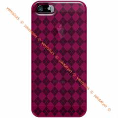 AMZER iPhone 5/5S Luxe Argyle TPU Soft Gel K�l�f