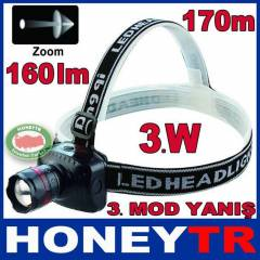 CREE 3 WATT LED HIGH POWER ZOOMLU KAFA LAMBASI