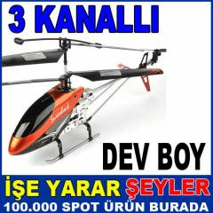 EN B�Y�K BOY 3.5 KANAL U�AN DEV METAL HEL�KOPTER