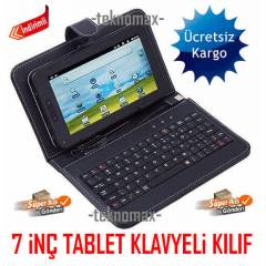 A�NOL 7 in� TABLET KILIFI KLAVYEL� TABLET KILIF