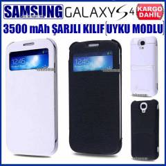 Samsung Galaxy S4 �arjl� K�l�f POWERBANK Uyku Md