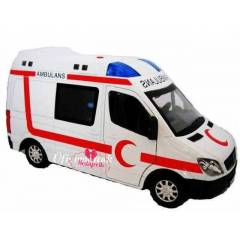 OYUNCAK AMBULANS METAL SESL� I�IKLI MODEL ARABA