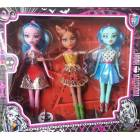MONSTER HIGH 3 ADET BEBEK