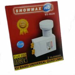 Showmax 0.3dB Quad - 4 ��k��l� LNB FULL HD