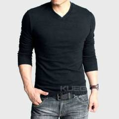 Basic Slim  Fit V Yaka T-shirt