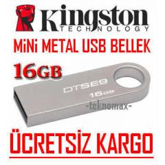 KINGSTON Mini METAL 16 GB USB FLASH BELLEK D�SK