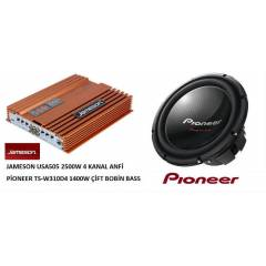 JAMESON 2500W ANF� P�ONEER 1400W BASS ��FT BOB�N