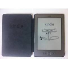 AMAZON KINDLE 4 S�YAH DER� KILIF (LOGOLU)