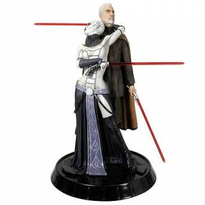 GENTLE GIANT STAR WARS ASAJJ & DOOKU STATUE