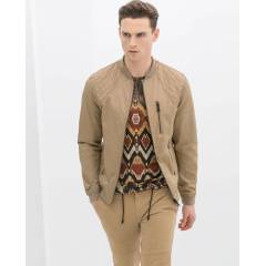 Zara Man With Cotton Jacket Mevsimlik Mont New