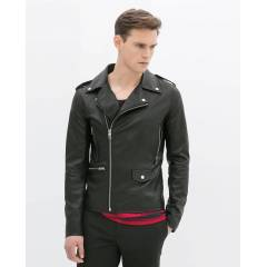 Zara Man Faux Leather Jacket Erkek Deri Mont