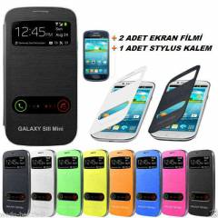 SAMSUNG GALAXY S3 MiNi KILIF FLiP COVER +2E+1K