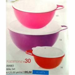 TUPPERWARE M�KS�M SET 7.5-4.5-0.6Lt= KARGOBEDAVA