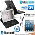 iPad Mini Bluetooth Klavyeli K�l�f 360 Derece