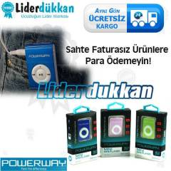 Powerway Mini MP3 Player M�zik �alar
