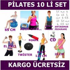 10 L� P�LATES PLATES SET�  65 CM TOP CD TW�STER