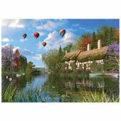 KS Games 1000 Par�a Puzzle Old River Cottage