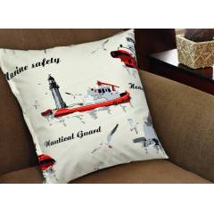 NAUTICAL GUARD VINTAGE VE POPART DEKORAT�F YASTI