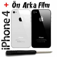 Apple iPhone 4 Arka Pil Kapa�� + Tornavida +Film