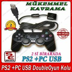 PS2 + PC USB Double  Oyun Kolu 2 S� B�RARADA