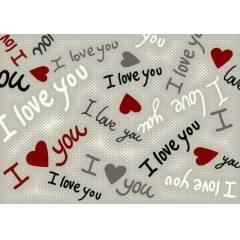 I Love You Desen 150x220 H�k�mdar Hal� En ucuz