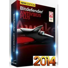 BitDefender Antivir�s Plus 2014 3 PC 1 YIL
