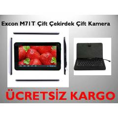 Excon M71 7'' Tablet Pc  2 Kamera Klavyeli K�l