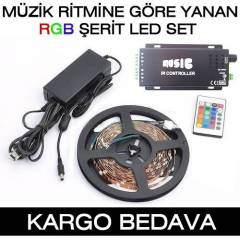 M�zi�in Ritmine g�re yanan RGB �erit Led