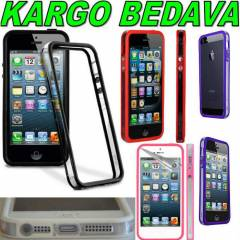 iPHONE 5 KILIF BUMPER YAN �EFFAF - iPHONE 5S / 5