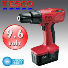 Tesco Value 9,6V Ak�l� Vidalama Makinesi Tek Ak�