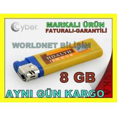 8GB �AKMAK KAMERA USB FLASH BELLEK 2 SAAT KAYIT