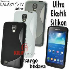 Galaxy S4 Active i9295 Ultra Elastik K�l�f+3Film