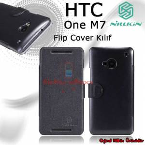 Nilkin HTC One M7 Flip Cover K�l�f + 3X Film