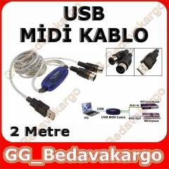 USB Midi KABLO Org Adapt�r Keyboard Adapter 2M