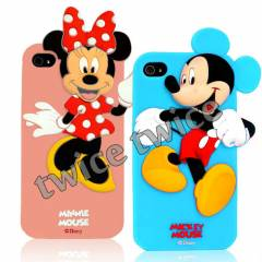 iPhone 4S KILIF MICKEY & M�NN�E MOUSE S�L�KON