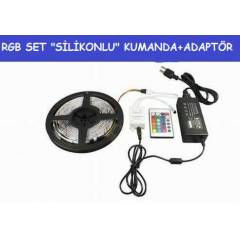 5 MT S�L�KONLU RGB SET �ER�T LED+ADAPT�R+KUMANDA