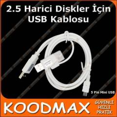 USB Y 3 G�R�� Mini 5 Pin HDD HARD D�SK KABLOSU
