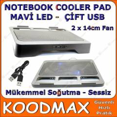 Notebook-Laptop So�utucu 2 X 14cm Fan �ift usb