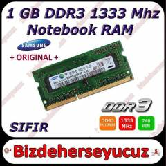 1GB DDR3 PC3-10600S 1333MHZ SAMSUNG NOTEBOOK RAM