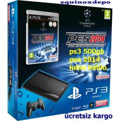 PLAYSTAT�ON 3 - PS3 500 GB+PES 2014 +HDMI+2.KOL
