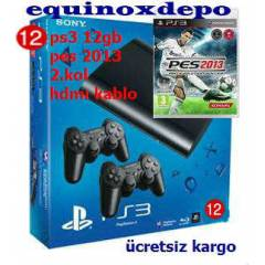 PS3 12 GB ULTRA SL�M + 2.KOL + PES 13