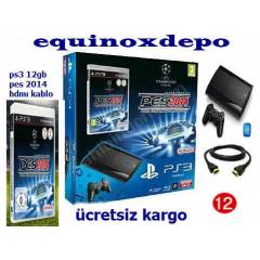 SONY PLAYSTAT�ON3 +PES 14+PS3 12 GB +HDMI