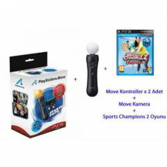 Playstation 3 Move Pack+2.move+Sports Champions2