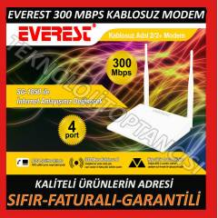 EVEREST 300 MBPS 4 PORT KABLOSUZ ADSL MODEM