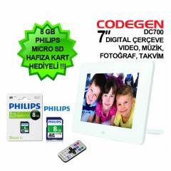 "Codegen DC700 7"" Multimedya Dijital �er�eve"