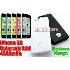 iPhone 5c Bataryal� K�l�f Slim Model 4500 mAh