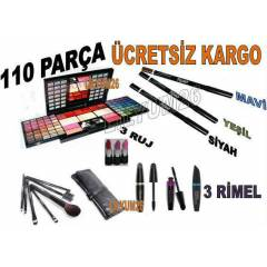 110 PAR�A MAKYAJ SET� R�MEL KALEM RUJ FAR FIR�A