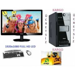 AMD 8 �EKiRDEK+22 LED+320 GB +16 GB RAM+HAZIR PC
