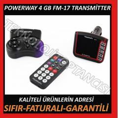 POWERWAY FM-17 4 GB G�R�NT�L� FM TRANSM�TTER