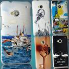 HTC ONE KILIF RES�ML� SERT RUBBER ARKA KAPAK